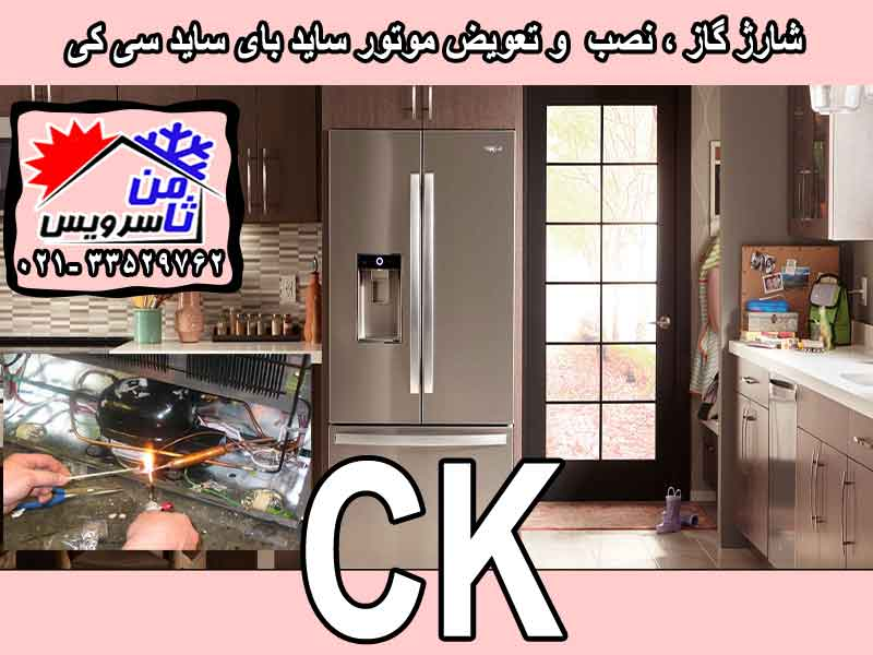 CK side by side compressor eplacement & gas charging at home in Tehran & Mashhad