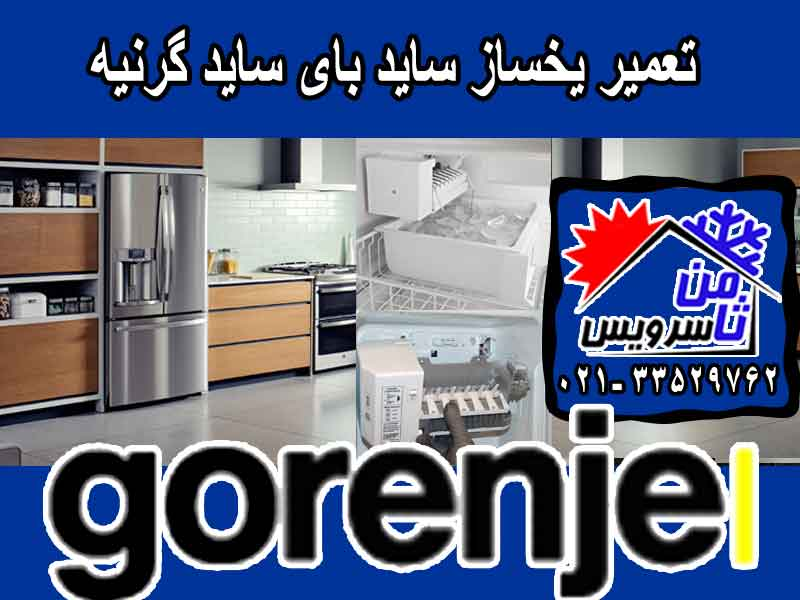 Gorenje side by side ice maker repair in Tehran & Mashhad