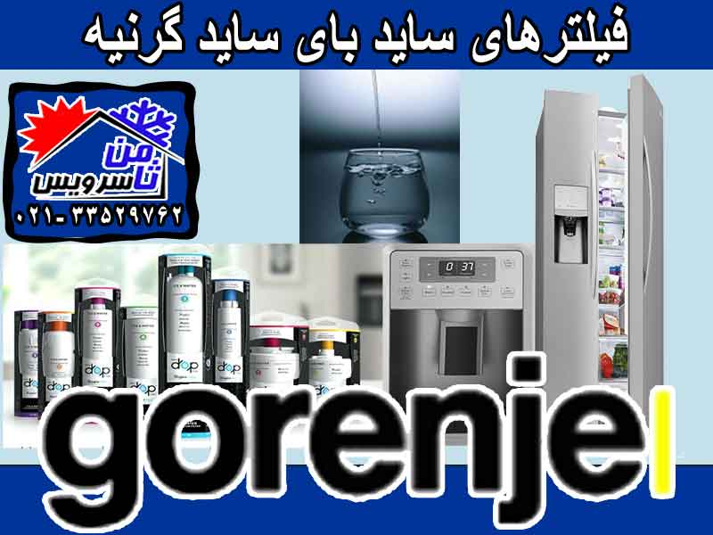 Gorenje side by side water filter sell,buy & replacement