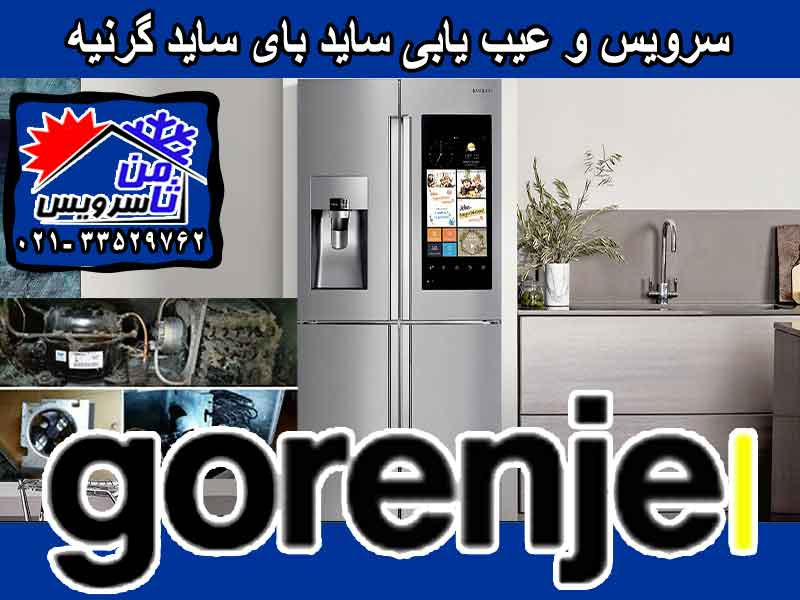 Gorenje side by side trouble shooting & service at home in Tehran & Mashhad