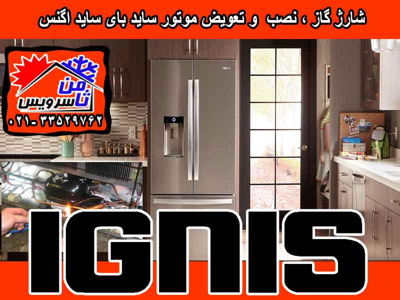 Ignis side by side compressor eplacement & gas charging at home in Tehran & Mashhad